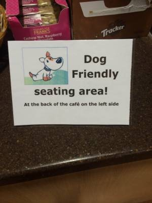 Dog Friendly in Cafe Panola